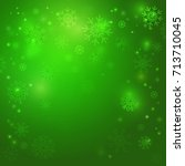 Christmas Green Background Wit...