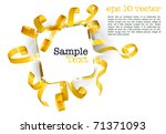 greeting card with curly golden ... | Shutterstock .eps vector #71371093