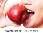 close up image of a mouth... | Shutterstock . vector #71371504