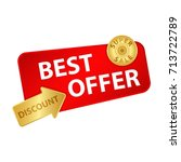 best offer banner. super sale... | Shutterstock .eps vector #713722789