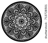 mandalas for coloring book.... | Shutterstock .eps vector #713728501