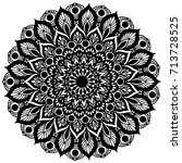 mandalas for coloring book.... | Shutterstock .eps vector #713728525