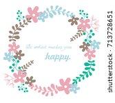 flowers frame vector... | Shutterstock .eps vector #713728651