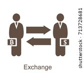 exchange currency icon with... | Shutterstock .eps vector #713728681