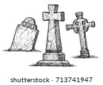 Gravestone Illustration ...