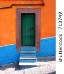 mexican door | Shutterstock . vector #713749