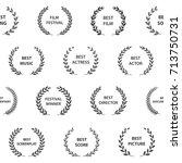 black and white film award... | Shutterstock .eps vector #713750731
