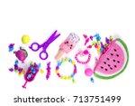 accessories beads for girls | Shutterstock . vector #713751499