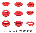 different shapes of female sexy ... | Shutterstock .eps vector #713754241