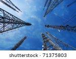 communications tower | Shutterstock . vector #71375803