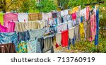 handmade rows with different... | Shutterstock . vector #713760919