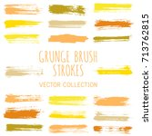 grunge paint brush stroke... | Shutterstock .eps vector #713762815