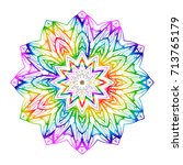 Rainbow Color Hand Drawn Henna...