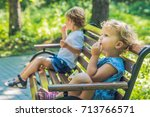 conflict on the playground ... | Shutterstock . vector #713766571
