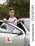 Learner Driver failed his driving test - stock photo
