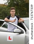 Learner Driver passed his driving test - stock photo