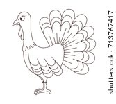 turkey thanksgiving day bird... | Shutterstock .eps vector #713767417
