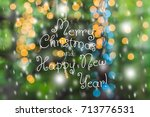 led lights garland  colorful... | Shutterstock . vector #713776531