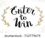 enter to win raster sign | Shutterstock . vector #713779675