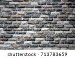 brick wall background | Shutterstock . vector #713783659