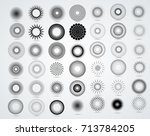 halftone dots in circle form .... | Shutterstock .eps vector #713784205