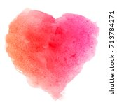 watercolor pink red hand drawn... | Shutterstock . vector #713784271