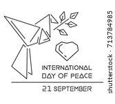 international day of peace... | Shutterstock .eps vector #713784985