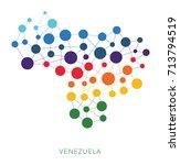 dotted texture venezuela vector ... | Shutterstock .eps vector #713794519