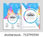 abstract vector layout... | Shutterstock .eps vector #713795554