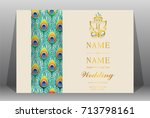 wedding invitation card... | Shutterstock .eps vector #713798161