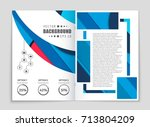 abstract vector layout... | Shutterstock .eps vector #713804209