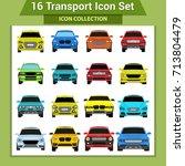 transport icons | Shutterstock .eps vector #713804479