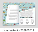 abstract vector layout... | Shutterstock .eps vector #713805814