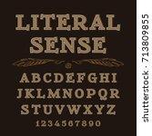 latin alphabet letters... | Shutterstock .eps vector #713809855