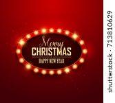 christmas background. retro... | Shutterstock .eps vector #713810629