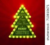 christmas background. retro... | Shutterstock .eps vector #713810671