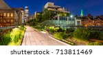 panoramic view of the high line ... | Shutterstock . vector #713811469