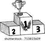 podium winner  sketch | Shutterstock .eps vector #713815609