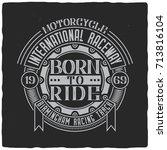 vintage label design with... | Shutterstock .eps vector #713816104