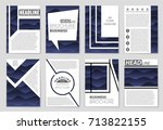 abstract vector layout... | Shutterstock .eps vector #713822155