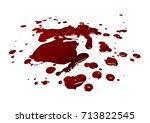 blood isolated on white... | Shutterstock .eps vector #713822545