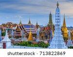 wat phra kaew or wat phra si... | Shutterstock . vector #713822869