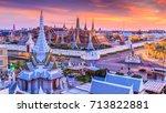 wat phra kaew or wat phra si...   Shutterstock . vector #713822881