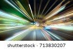 moving forward motion blur... | Shutterstock . vector #713830207