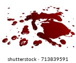 blood isolated on white... | Shutterstock .eps vector #713839591