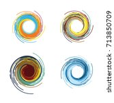 abstract business company logo. ... | Shutterstock .eps vector #713850709