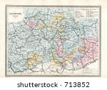 antique map of central germany | Shutterstock . vector #713852