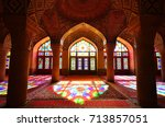 this is inside nasir ol molk... | Shutterstock . vector #713857051