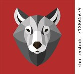 head wolf color | Shutterstock .eps vector #713865679