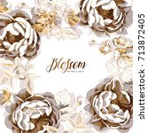 branding invitation card with a ... | Shutterstock .eps vector #713872405